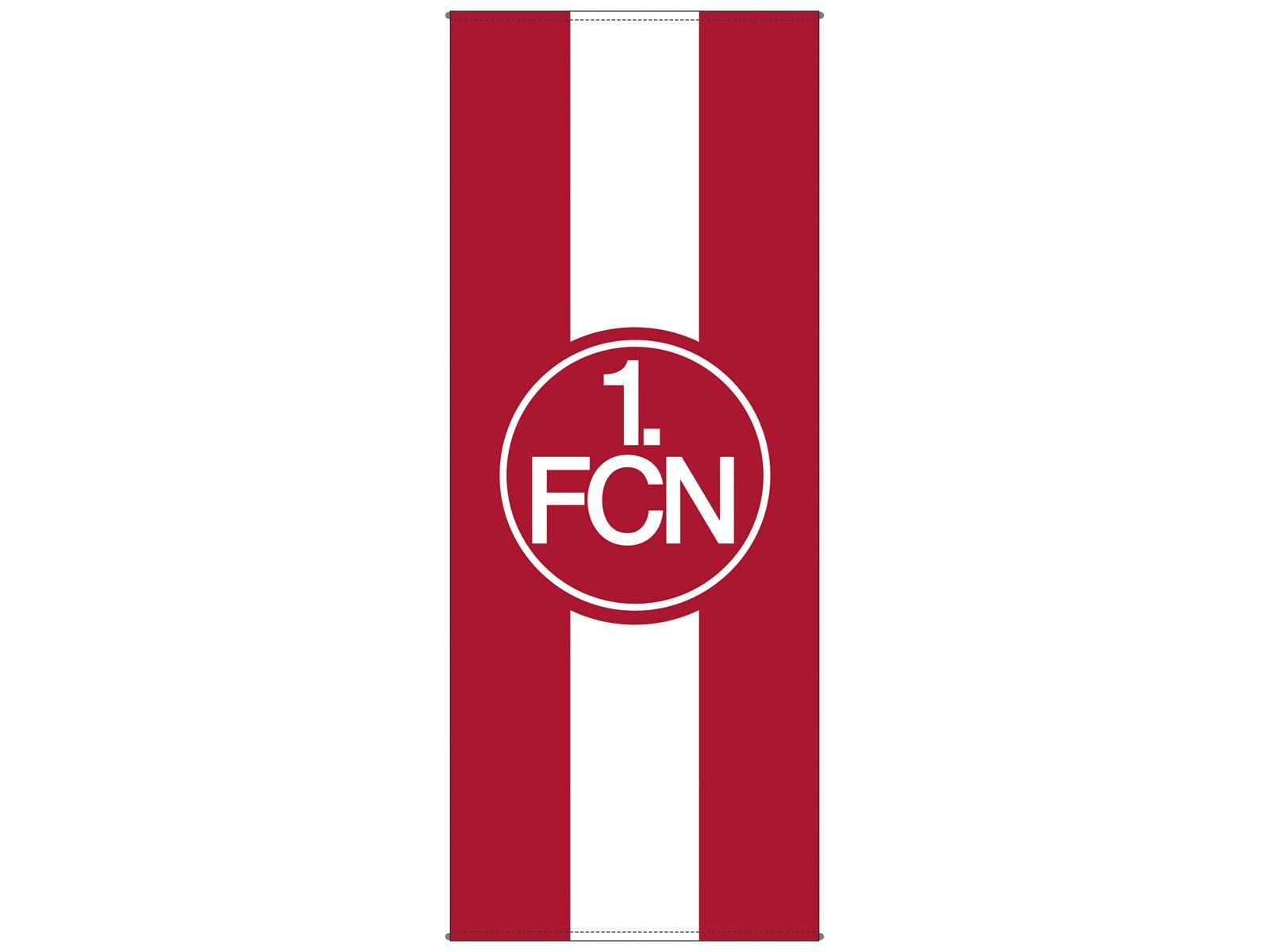 FCN: BANNERFAHNE FAHNE FLAGGE 1. FCN - 1. FC Nürnberg