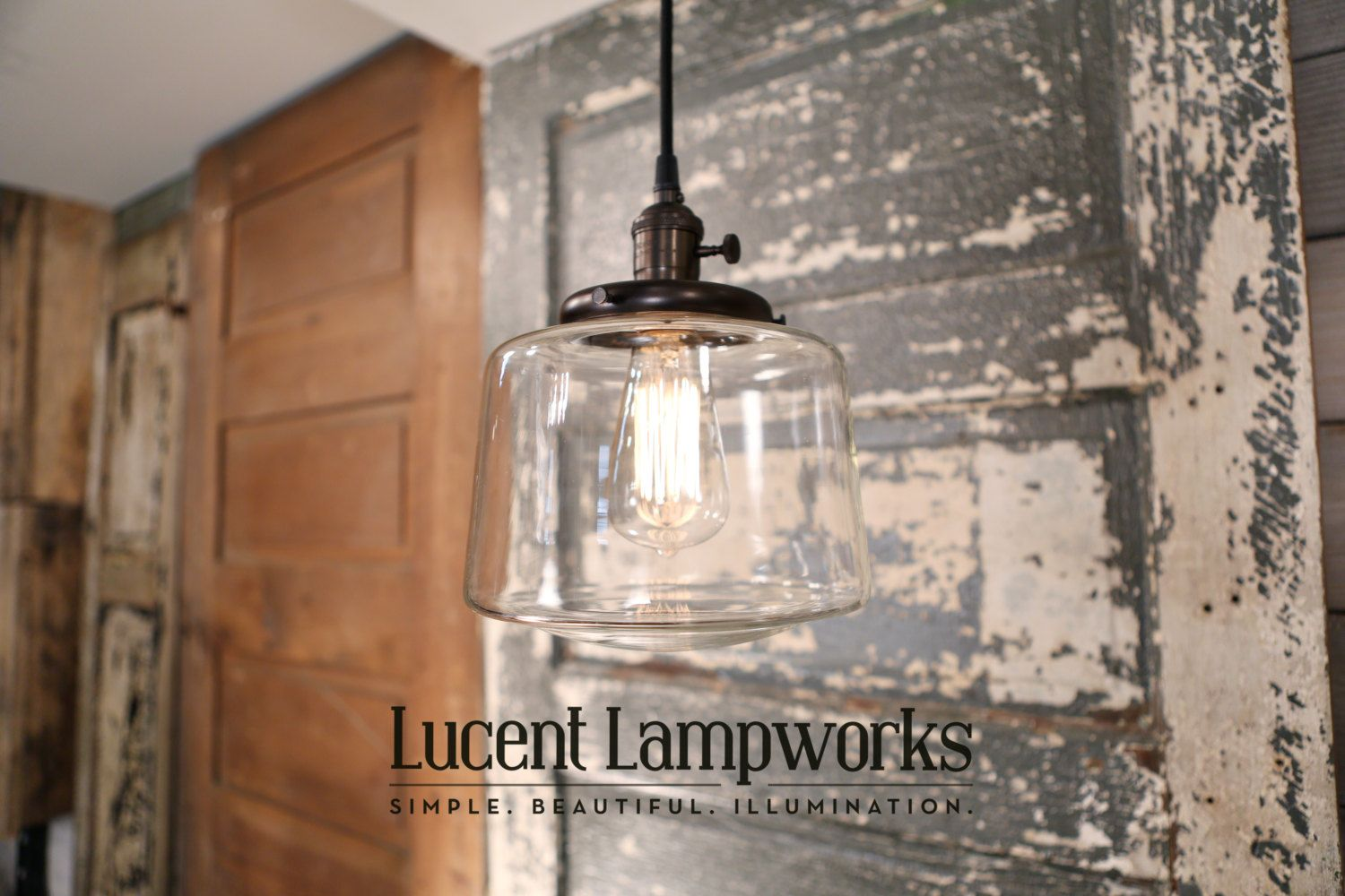 Use our Glass Pendant Replacement Shade to change the look