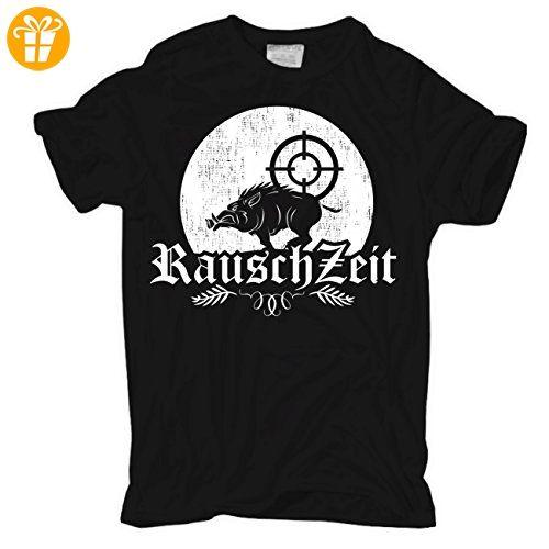 Männer und Herren T-Shirt Rauschzeit (mit Rückendruck) (*Partner-Link)