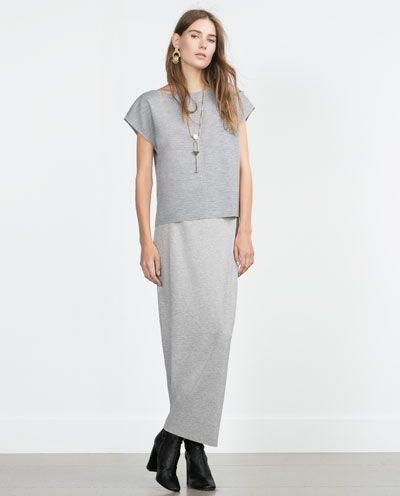 35cb1b3893 ZARA - WOMAN - LONG STRAIGHT SKIRT | Skirts | Long straight skirt ...