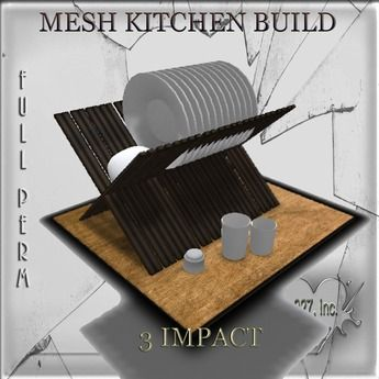 Mesh kitchen build dishes 3 impact linked  FULL PERM 927