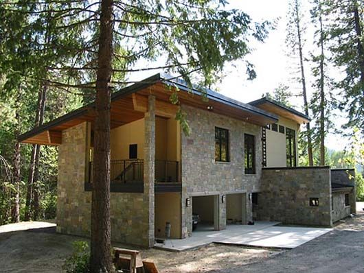 awesome small houses   ... with Great Look : Awesome Exterior Stone ...