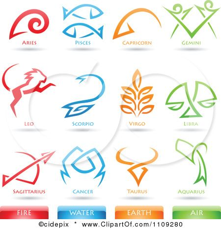 Element Tattoo Clipart Astrology Star Signs And Fire Water Earth