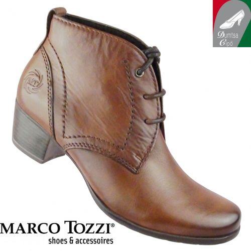 Marco Tozzi női bőr cipő 2-25106-25 340 muscat antik - Női bakancsok ... db5933edbf
