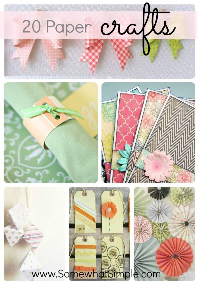 20 Creative Paper Projects Somewhat Simple Paper Projects Diy Paper Crafts Scrapbook Paper Crafts