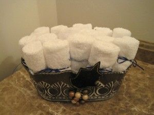 Hand Towel Display For The Guest Bathroom Great Pictures