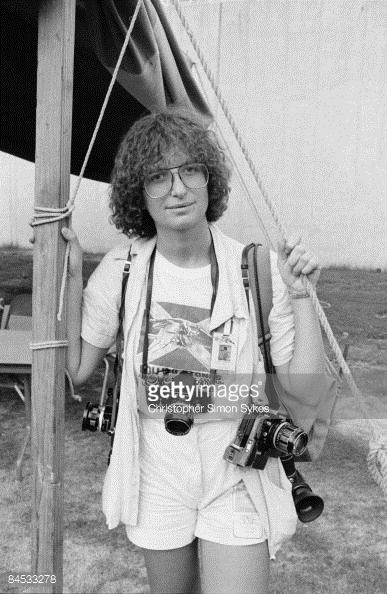 American Photographer Annie Leibovitz In Memphis Tennessee During The Rolling Stones Tour Of Americas 1975 Photo By Christopher Simon Sykes Hulton