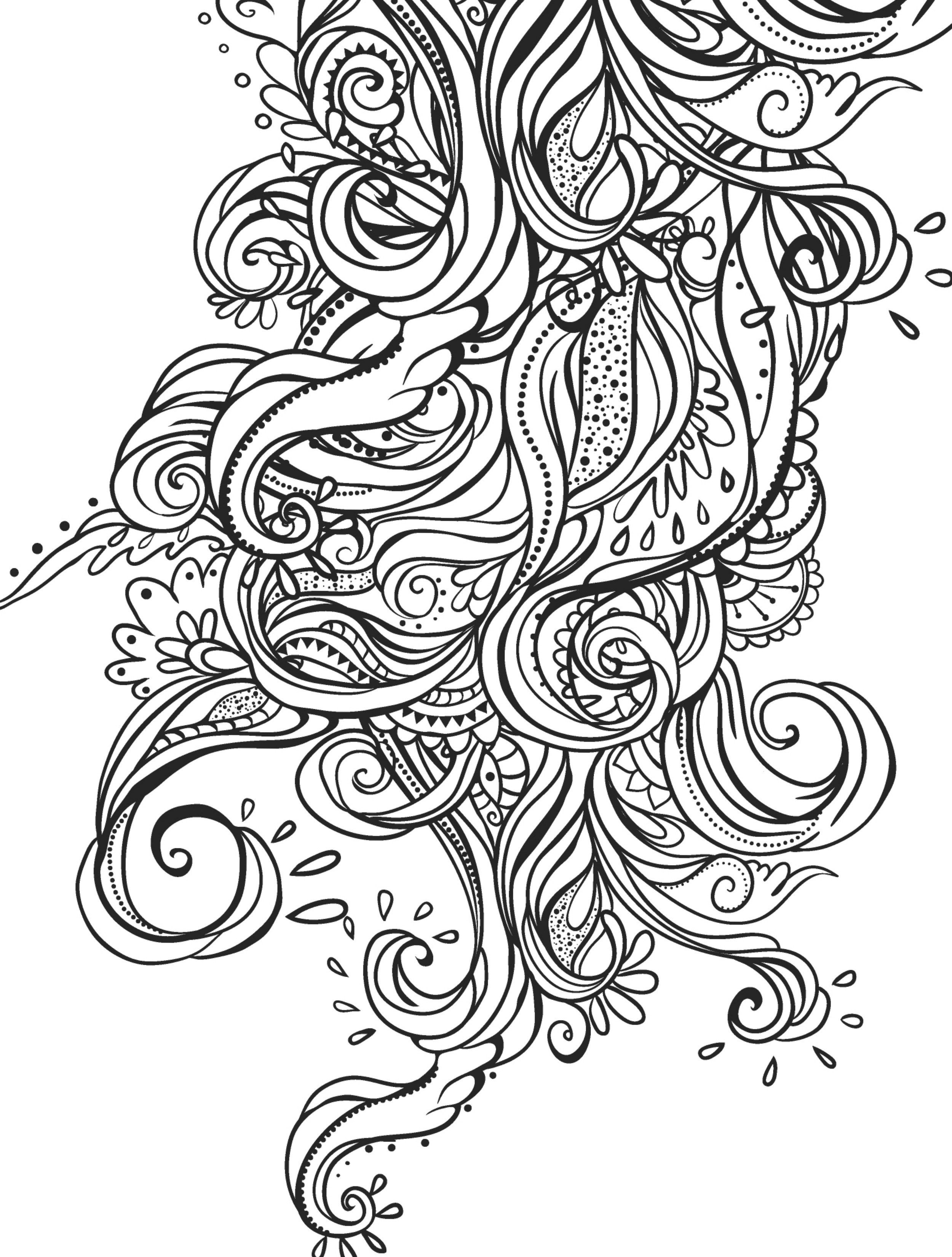 Free coloring pages of peacock feathers coloring everyday printable - 15 Crazy Busy Coloring Pages For Adults Page 5 Of 16