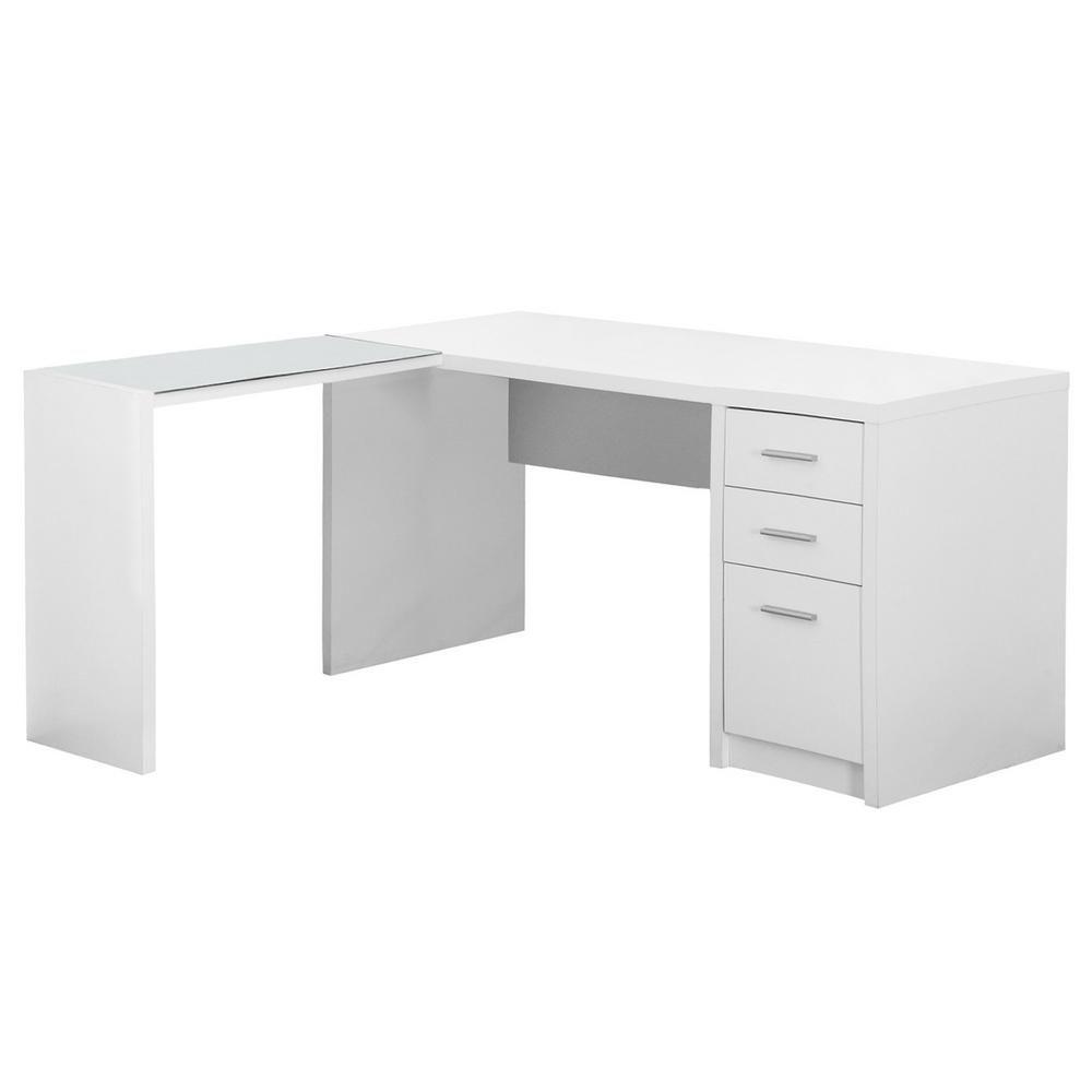 White Computer Desk Hd7136 White Desk Office White Corner Desk