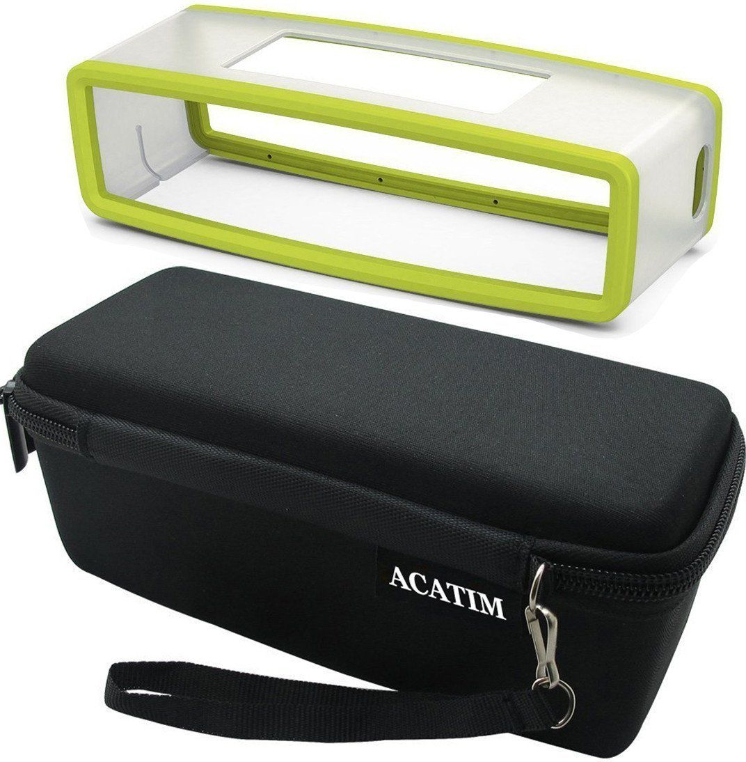 Amazon.com: Acatim Hard Case Travel Bag Plus Soft Cover for Bose Soundlink Mini Bluetooth Portable Wireless Speaker 1 & II, Black/Gray: Electronics