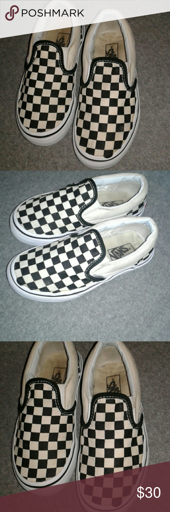7ef3029db03239 Shoes Black and white checkered vans size 12 boys or girls Vans Shoes  Sneakers