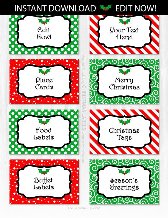 christmas labels christmas food labels christmas tags instant
