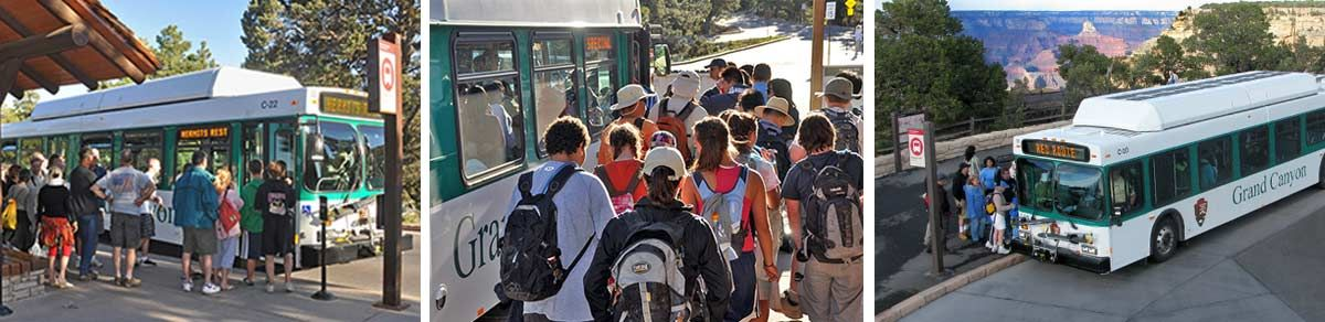 Grand Canyon NP, South Rim. Free shuttle bus. Only
