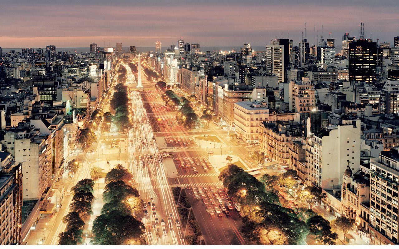 Buenos 9 La Du Monde Plus De Julio Route La Argentine Large Aires