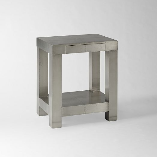 Parsons End Table - Metal | west elm 23.5'' w b 18.25'' x 27.5''h