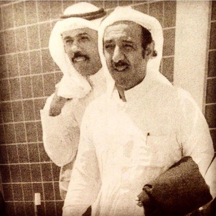 صاحب السمو الشيخ صباح الأحمد الجابر الصباح وولي العهد الشيخ نواف الأحمد الجابر الصباح Kuwait City Arabian Nights Party Photo