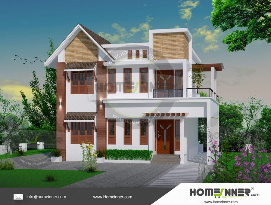 1500 Sq Ft Middle Class House Designs Model House Plan Architectural House Plans Kerala House Design