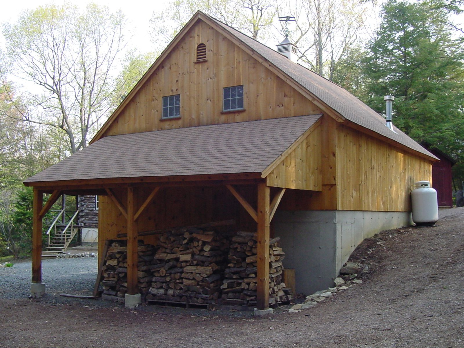 Our 22'x 36' 1-1/2 Story Barn With 10'x 20' Open Gable