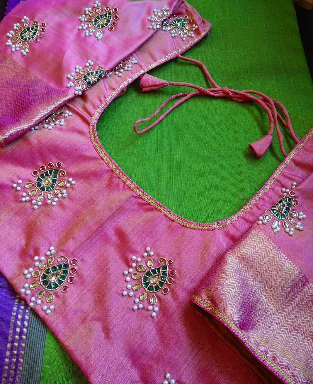 Pin By Sowmya Manikandan On Blouse Embroidered Blouse Designs Blouse Work Designs Fashion Blouse Design,Simple Home Furniture Design Hall