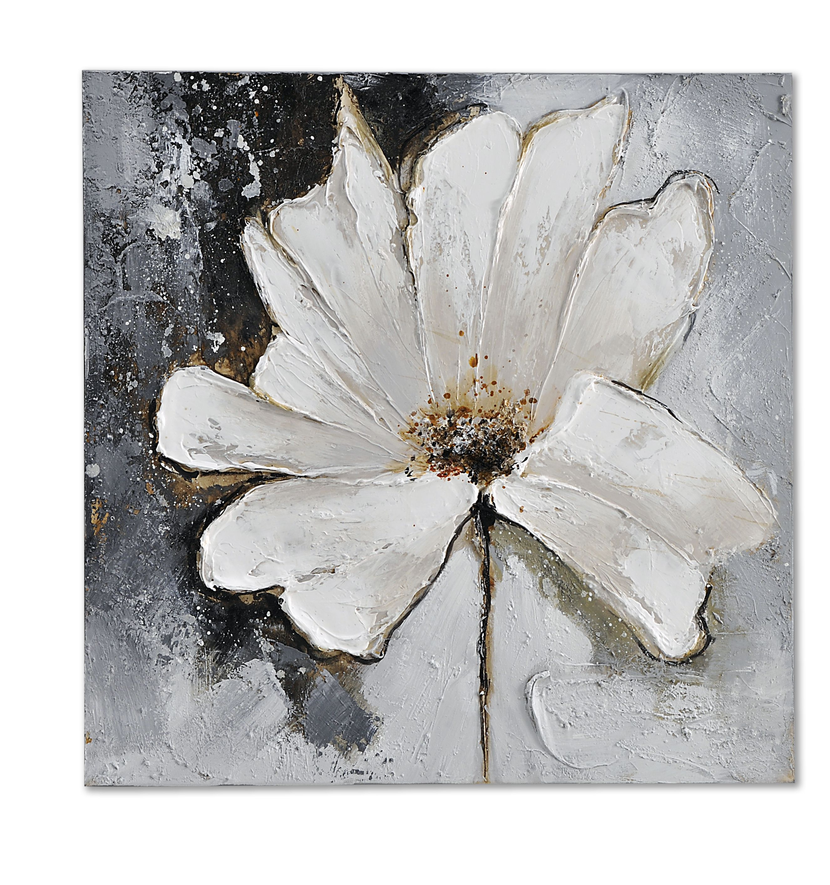 Giftcraft White Flower Oil Painting On Canvas Paint Pinterest