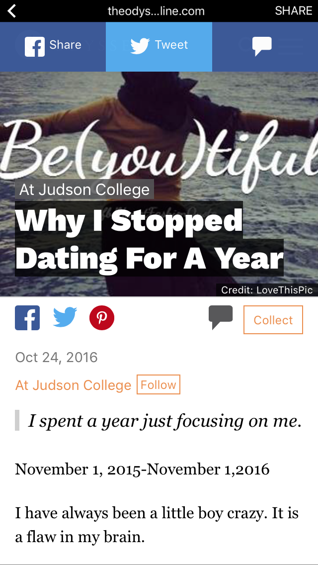 Stopped dating