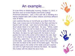 Infant Developmental Learning Storie Ece Google Search Anecdotal Record Early Childhood Education Resources Research Paper Examples