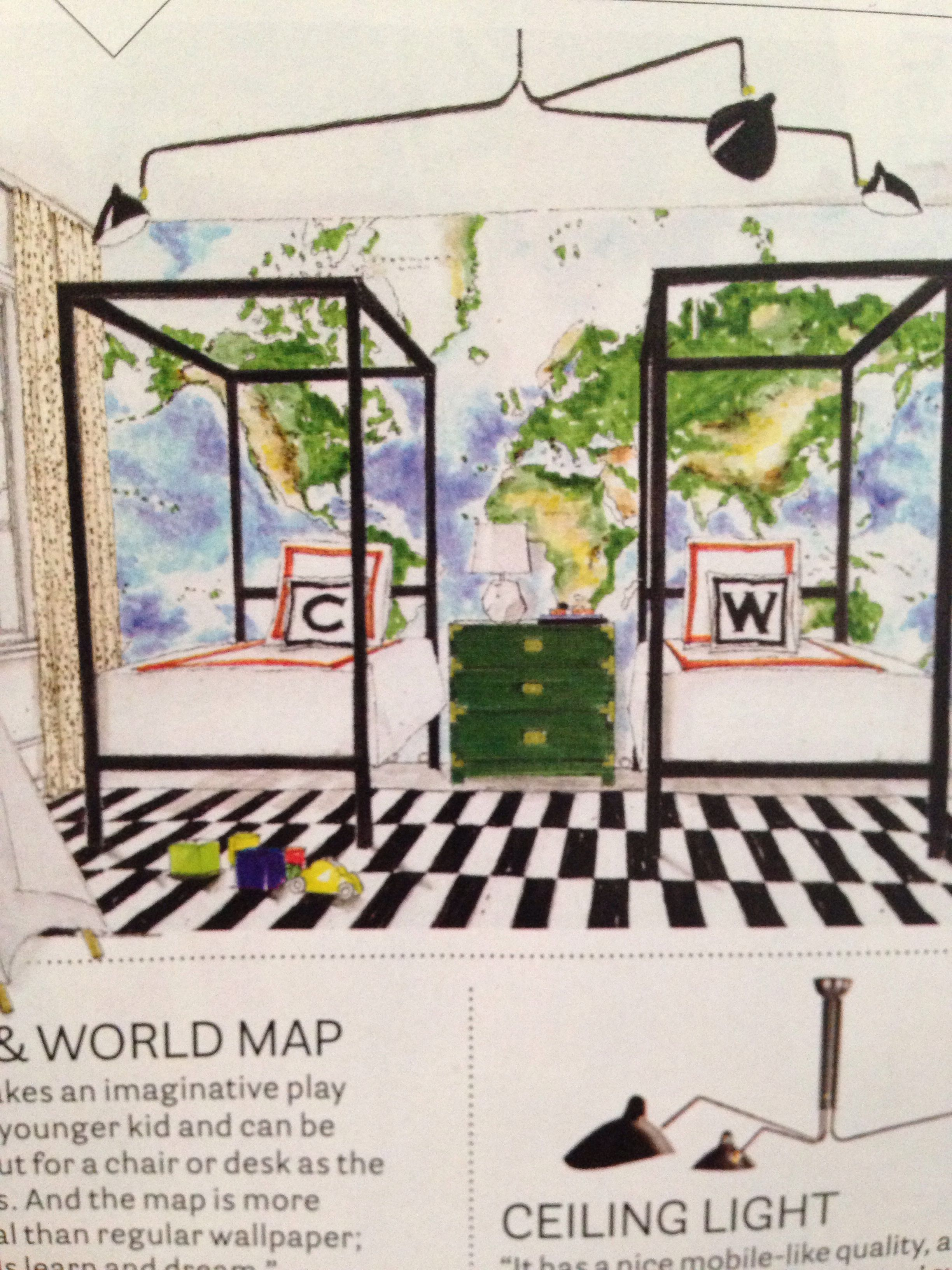 Pottery Barn Map Mural Ikea Stockholm Rug Room And Board