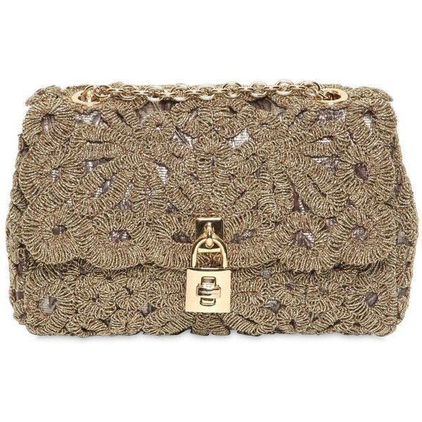 DOLCE & GABBANA Lurex Lace Dolce Bag found on Polyvore