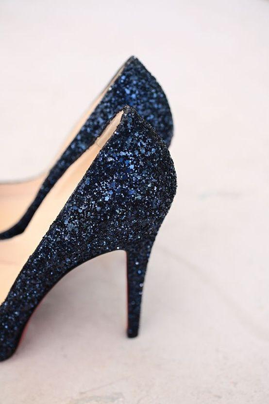 def3a3f21331 navy glitter heels