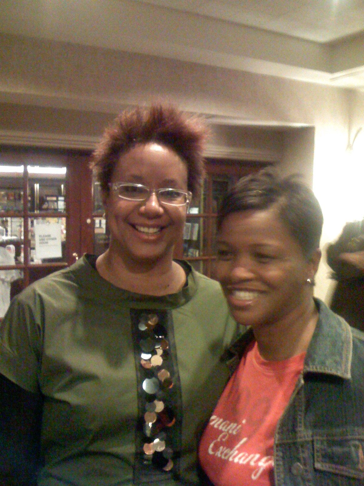 Nationally Syndicated Columnist Harriet Cole and Gina Lamar Evans 2008