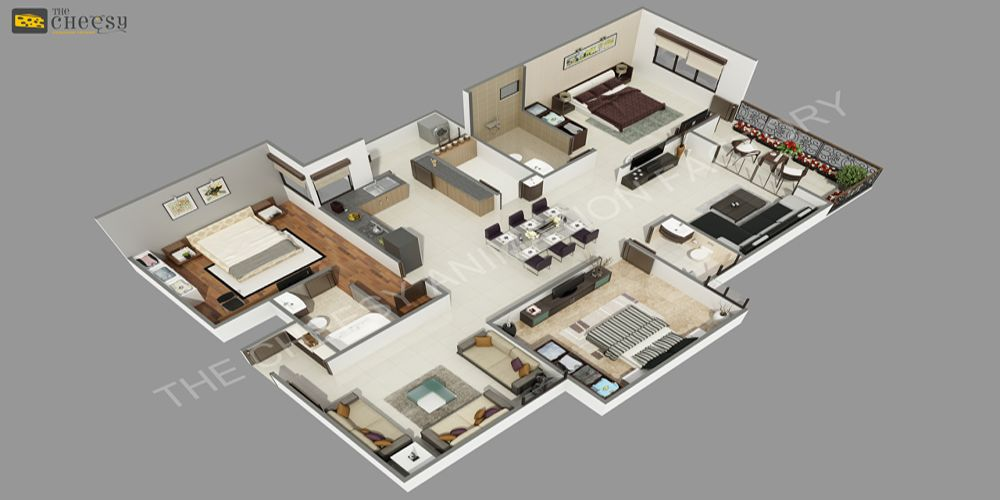 The Cheesy Animation Studio 2d And 3d Floor Plan Rendering And Residential Commercial Home