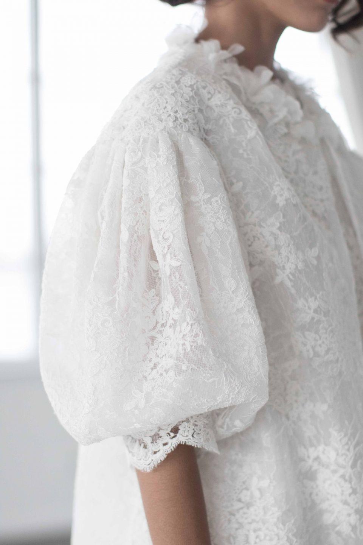 Billowing sleeves marchesa bridal fall photo the lane