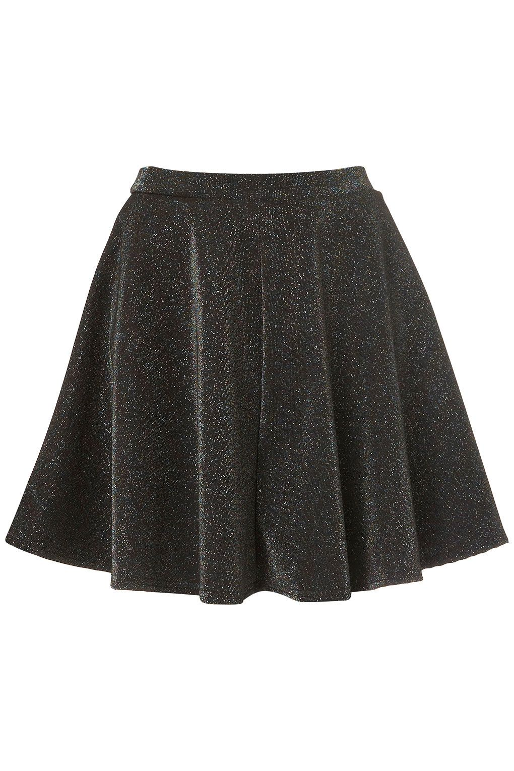 8d53de4114d3 black glitter skater skirt | nude coverings? | Skater Skirt, Skirts ...