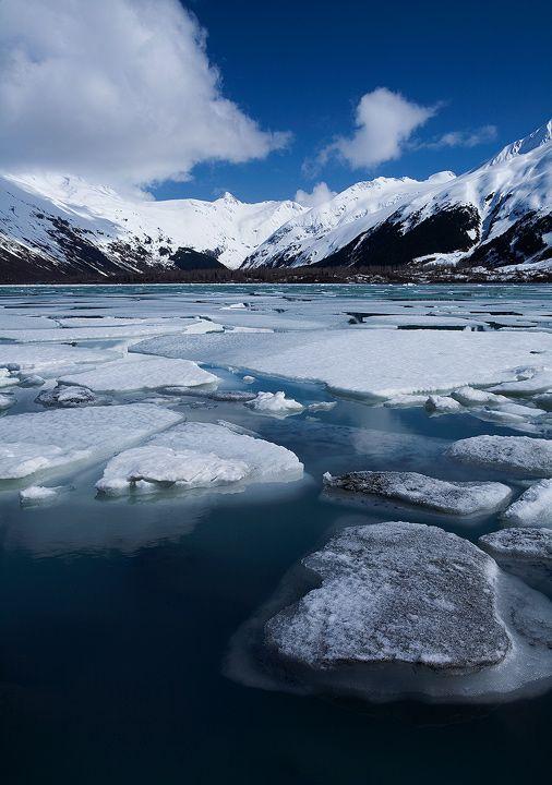Portage Glacier, Alaska by Brettc.deviantart.com on @deviantART