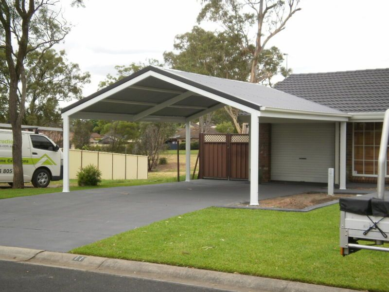 Carport diy kit 6x6m gable made to size pergola patio for Gable roof carport