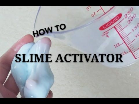 Slime activator WITHOUT BORAX or LIQUID STARCH etc..| Tutorial, How to - YouTube