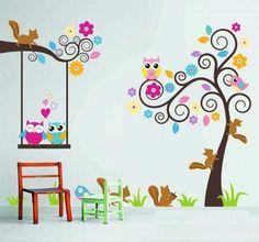 Deco cris vinilos decorativos infantiles entra y mira - Vinilos infantiles pared gotele ...
