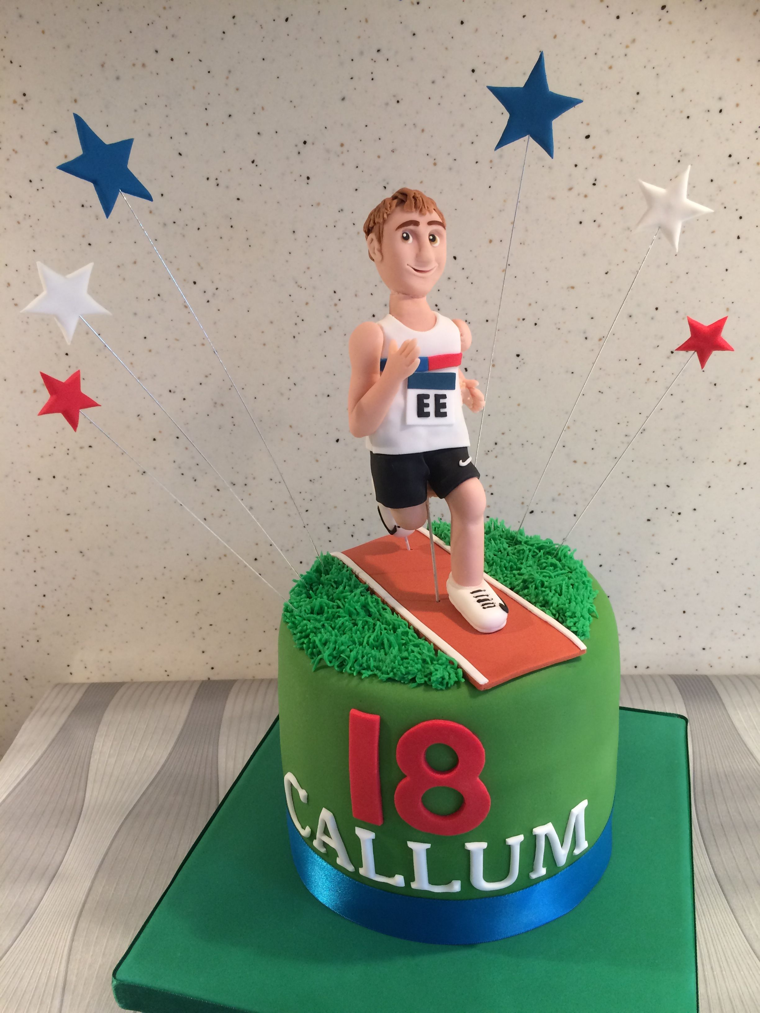 Running Athletefigure Birthday Cake Running Athletefigure Birthday