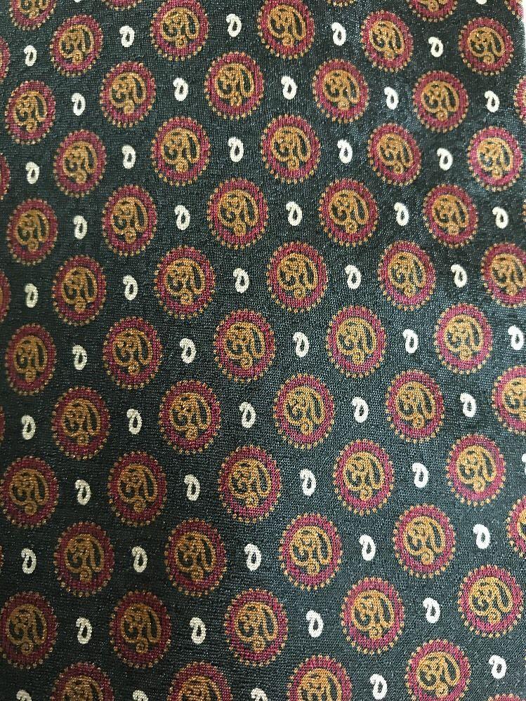 a9e53f27c045 Mens Giorgio Armani Cravatte Green with Red Brown Medallions Silk Tie Italy  #ARMANI #NeckTie