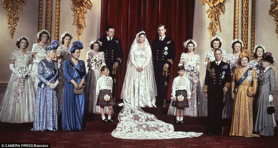 GALLERY New photos of The Queen's wedding recreated by