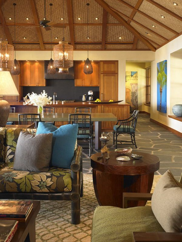 Open Plan Ideas For Balinese Dining Room Remodeling