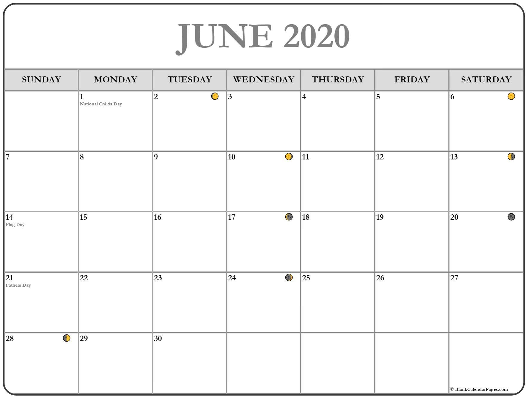 June Calendar Printable Template With Holidays With