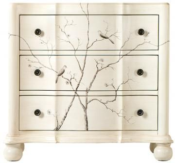 Wonderful Hand Painted Bird Chest   Cabinets   Living Room   Furniture |  HomeDecorators.com