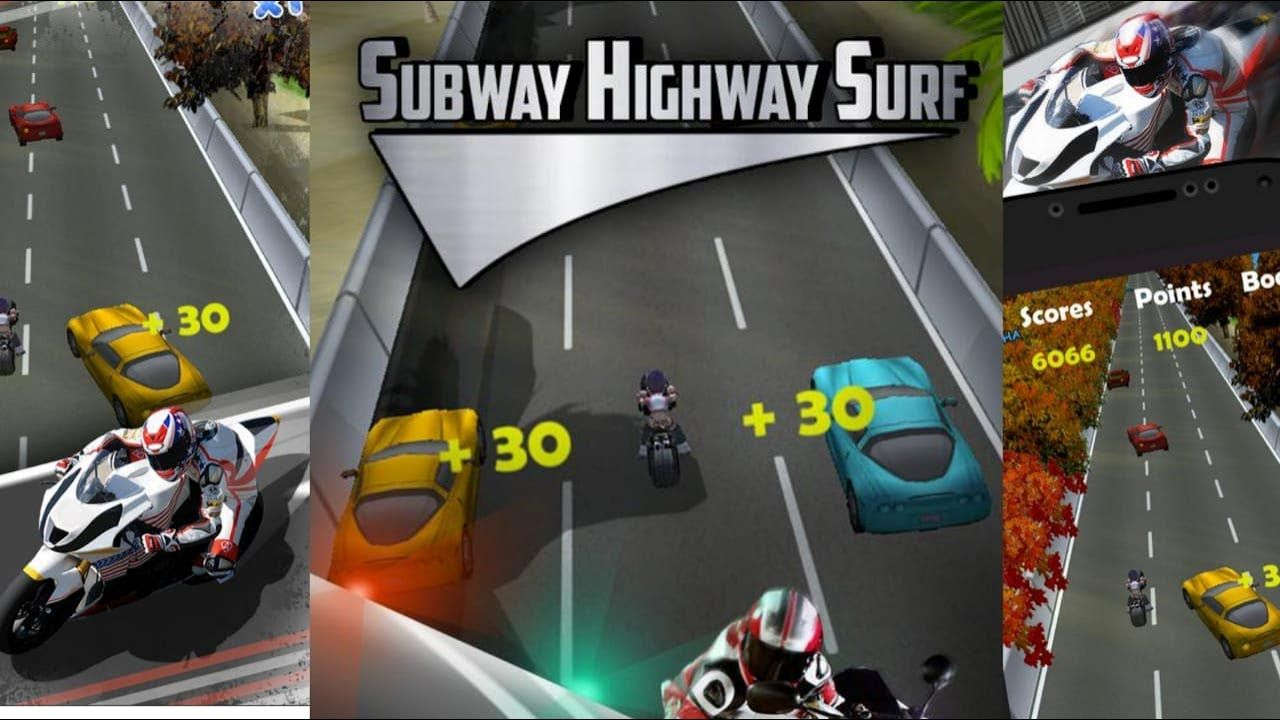 Subway Highway Surf Bike Racing Game Androidgameplay Hd With