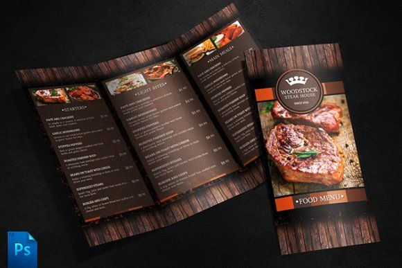 Menu Template by Quickandeasy on @creativemarket Menu Design - sample menu template