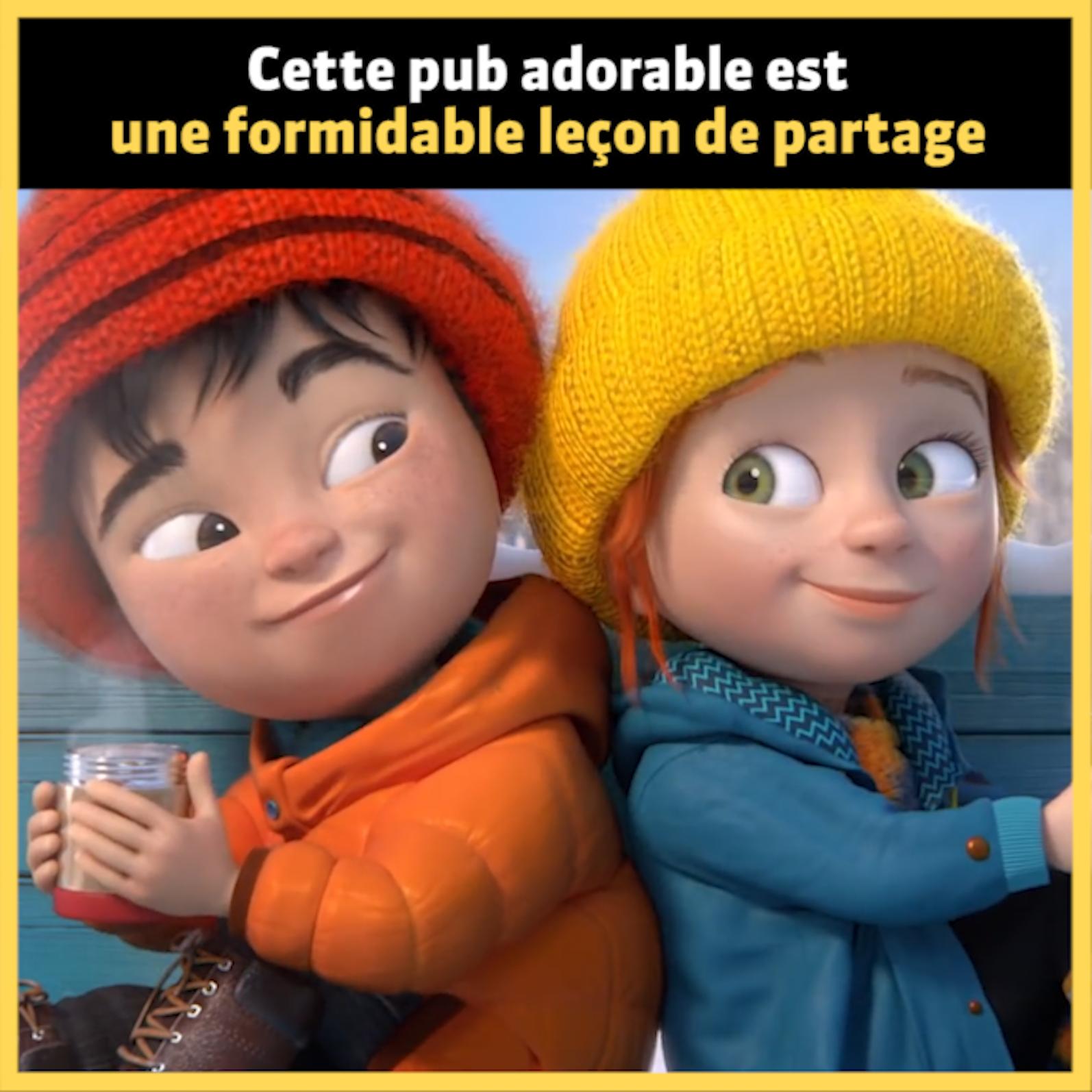 Cette adorable petite publicité canadienne est une formidable leçon de partage