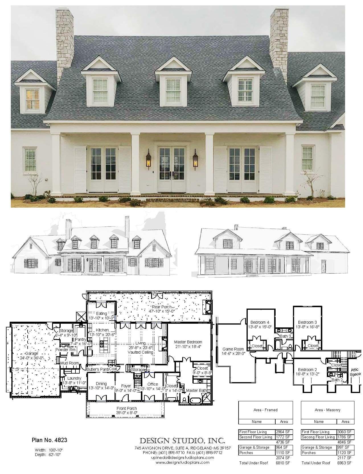 Clean Crisp White On White Newly Built Plan 4823 Designstudioplans Residentialdesign Residentialarchit In 2020 Dream House Plans House Plans Building A House