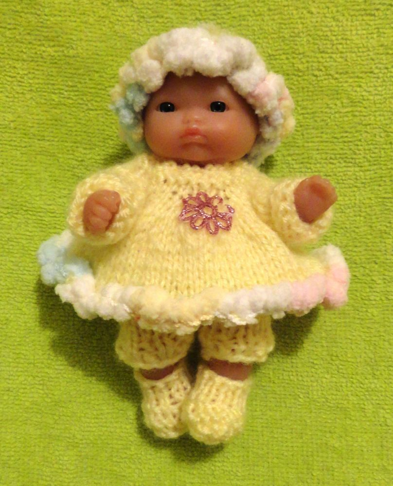 "Hand Knitted Dolls Clothes for 5"" Berenguer Doll (#91)"
