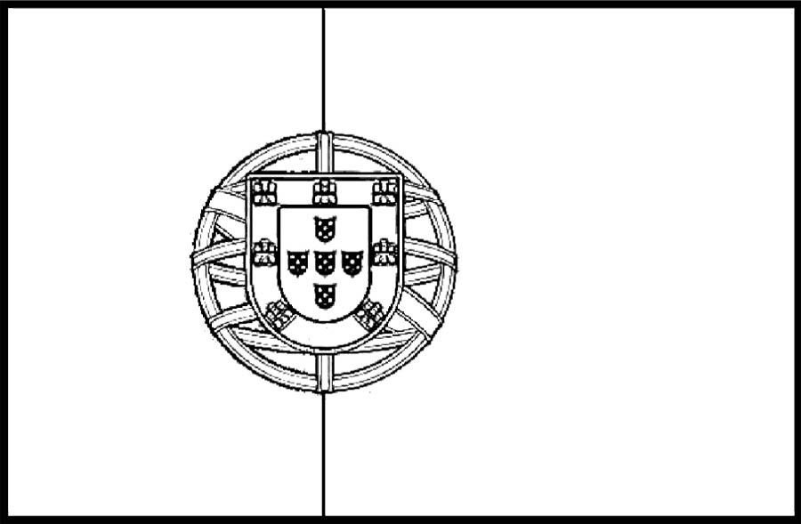 Portugal Flags Coloring Page For Kids Flag Coloring Pages