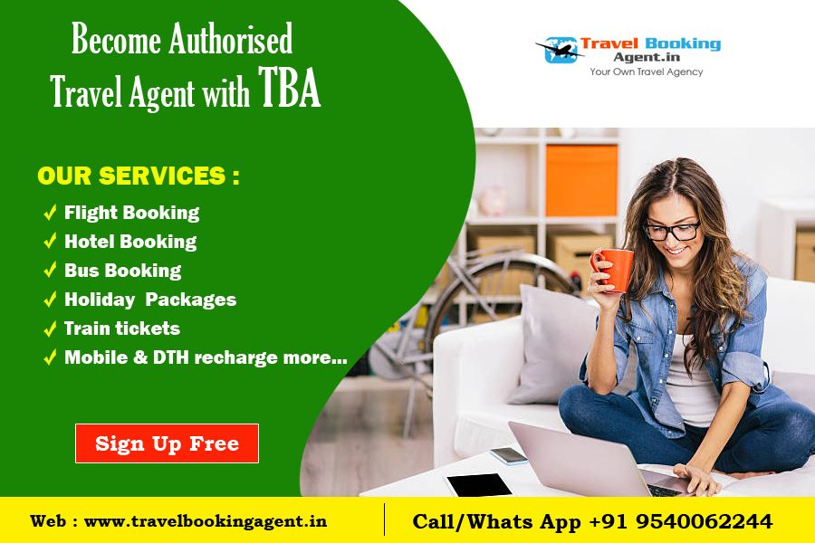 become travel agent online for free in india